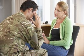 image of counseling  - Soldier Having Counselling Session - JPG