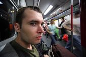 Man In Subway Car