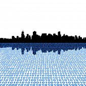 Vancouver skyline with binary perspective foreground