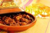 stock photo of tagine  - moroccan tagine an oriental cooking from north africa - JPG