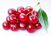 Cherry; Objects on white background