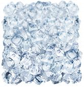 picture of ice-cubes  - Ice cubes on a white background - JPG