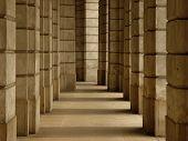 fundo de colunas