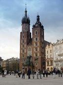 Mariacki kerk. Krakau - Polen
