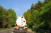 tanker truck on road