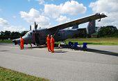 RADOM POLAND - AUG. 31:  An-28 Bryza bis. International Air Demonstrations AIR SHOW 2009. August 31