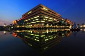 Bangkok Dec 20 :government Complex Building Shines At Dusk In Bangkok Thailand On Dec 20.2010 In Ban
