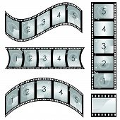 set of film and roll vector
