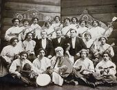 folk orchestra - old photo 1904y.