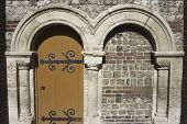 Ancient Entrance To The Church France