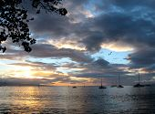 Hawaiian Harbor Sunset