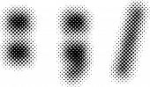foto of semi-colon  - halftone sign  - JPG