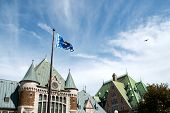 foto of gare  - Gare du Palais the railway and bus station of Quebec City on a cloudy day - JPG