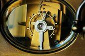 Clockwork machinery closeup poster