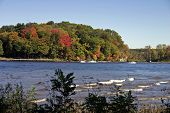 Ct River In The Fall