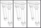 stock photo of pilaster  - explanatory educational sketch pilaster column problem in architecture - JPG