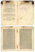 Vintage Old Russian Pasport Year Of 1914 Isolated On White