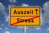 Deutschen Road Sign, Stress und Timeout