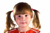 Smiling Serene Little Girl