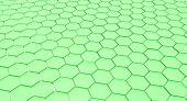 Green honey comb pattern