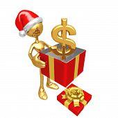 Постер, плакат: Рождественский подарок доллар