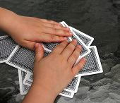 young player hands