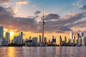 Spectacular Sunset At Toronto City, Toronto, Ontario, Canada. poster