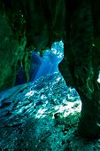 picture of cenote  - the entrance to gran cenote in tulum mexico - JPG
