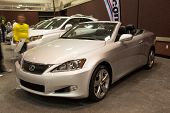 JACKSONVILLE, FLORIDA-FEBRUARY 18: A 2012 Lexus IS Convertible at the Jacksonville Car Show on Febru