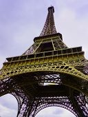 The Eiffel Tower In Paris, France. Trendy Colour. poster
