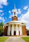 Historic church with Greek revival architecture