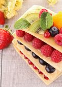 berries mille feuille