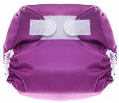 Eco Friendly Purple Cloth Diaper With Hook And Loop Closure