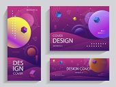 Creative Design With Vibrant Gradients Shapes. Gradient Shapes на фоне геометрической абстракции. Fo poster