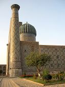 Samarkand Registan Sher-dor Madrasah At Sunset 2007