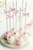 stock photo of cake pop  - Wedding cake pops - JPG