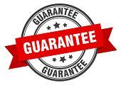 Guarantee Label. Guarantee Red Band Sign. Guarantee poster