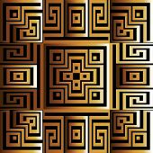 Ancient Style Modern Greek 3d Vector Seamless Pattern. Ornamental Surface Geometric Background. Laby poster