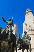 Don Quixote And Sancho Panza Statue - Madrid Spain