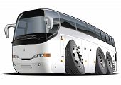 image of motor coach  - Vector illustration cartoon tourist bus - JPG