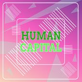 Word Writing Text Huanalysis Capital. Business Concept For Intangible Collective Resources Competenc poster