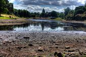 Hdr Image Of A Dried Up Park Lake