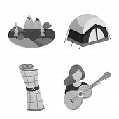 Isolated Object Of Recreation And Tourism Icon. Collection Of Recreation And Wildlife Stock Vector I poster