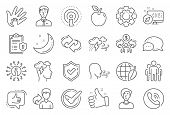 Check Mark, Sharing Economy And Mindfulness Stress, Breath People Line Icons. Privacy Policy, Social poster