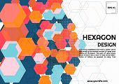 Abstract Hexagon Background Modern Style Geometric Complex Design. Vector Illustration poster