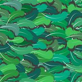 Feathers Seamless Green