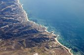 Aerial photo of Laguna Beach California and the Orange County coast.