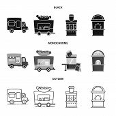Isolated Object Of Amusement And Store Icon. Set Of Amusement And Urban Stock Vector Illustration. poster