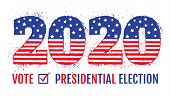 Vector Vintage Banner For 2020 Presidential Election In Usa. 2020 Like American Flag For Election Of poster