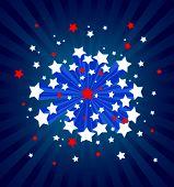 Um fundo de starburst americana